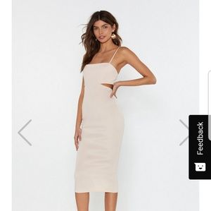 Nasty Gal bodycon midi dress